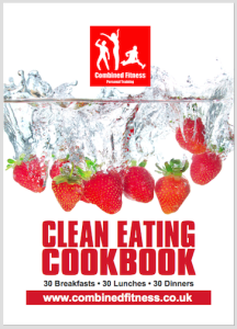 Clean Eating cookbook ith boarder_LQ